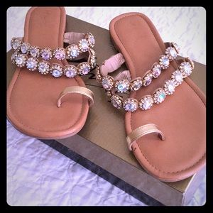 Thalia Sodi Gorgeous gem & rhinestone sandals